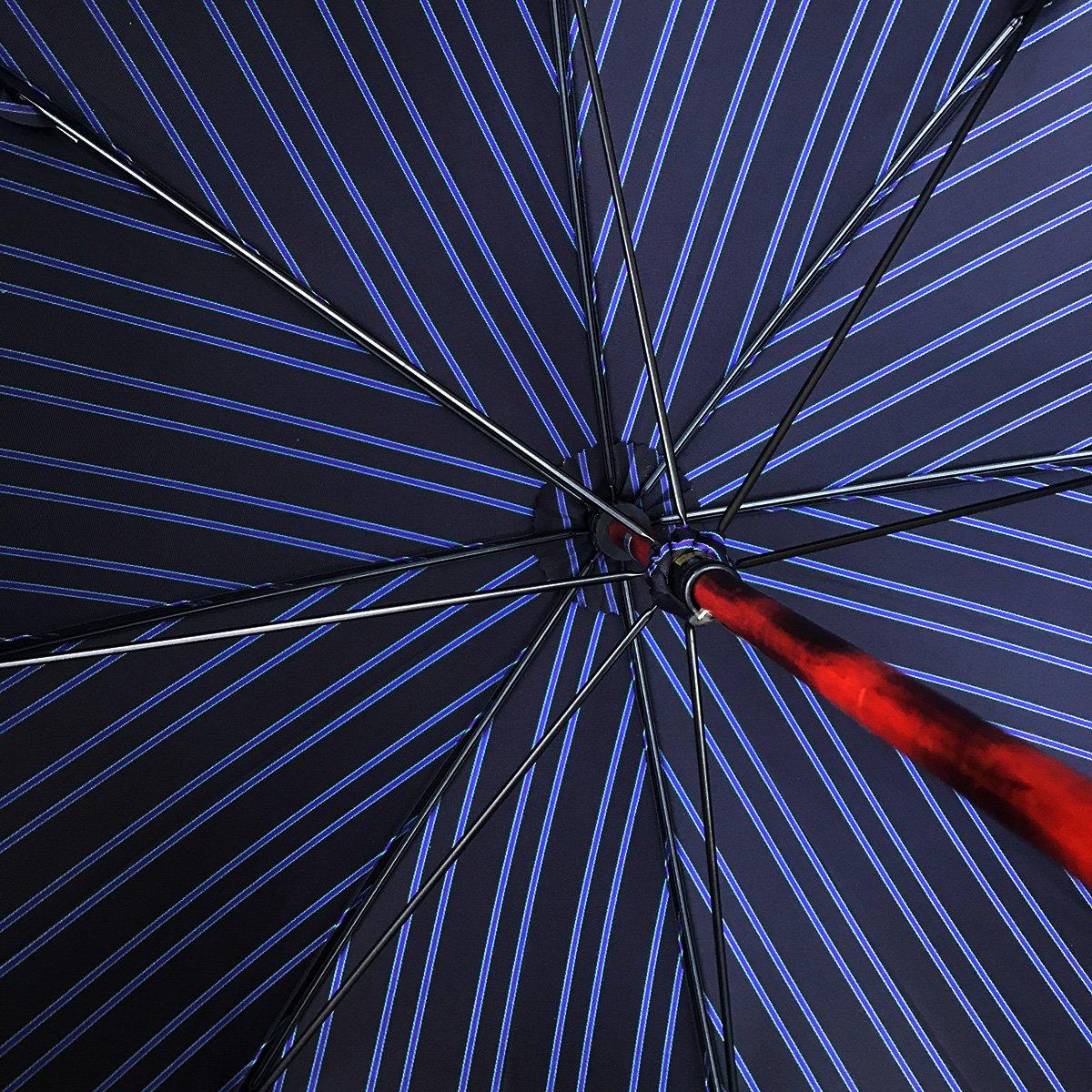 一本棒 メープルソリッド ダブルフェイス ストライプ 長傘 詳細画像12