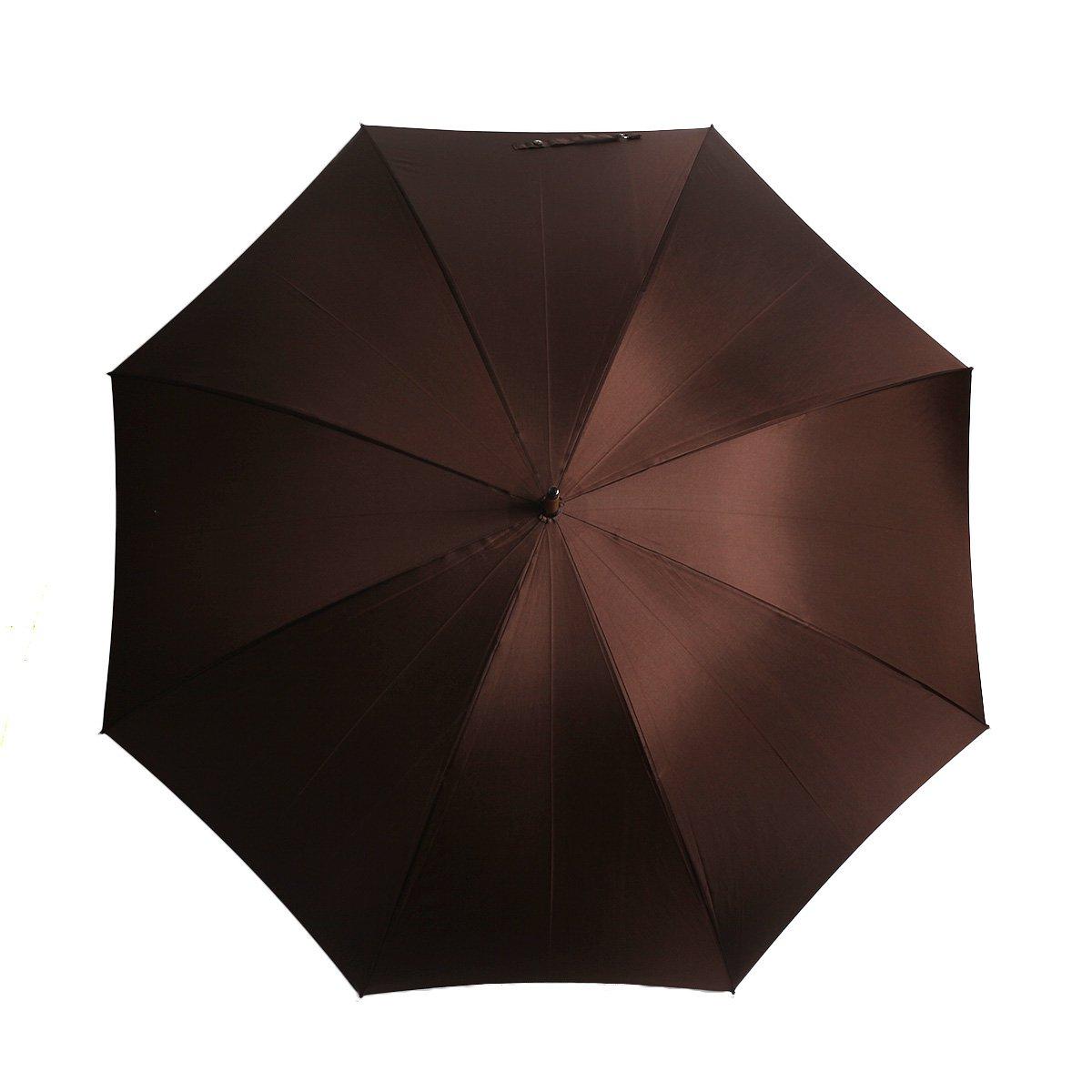 【10%OFF】【公式限定】富士絹 細巻き 長傘(アイアンウッド) 詳細画像8