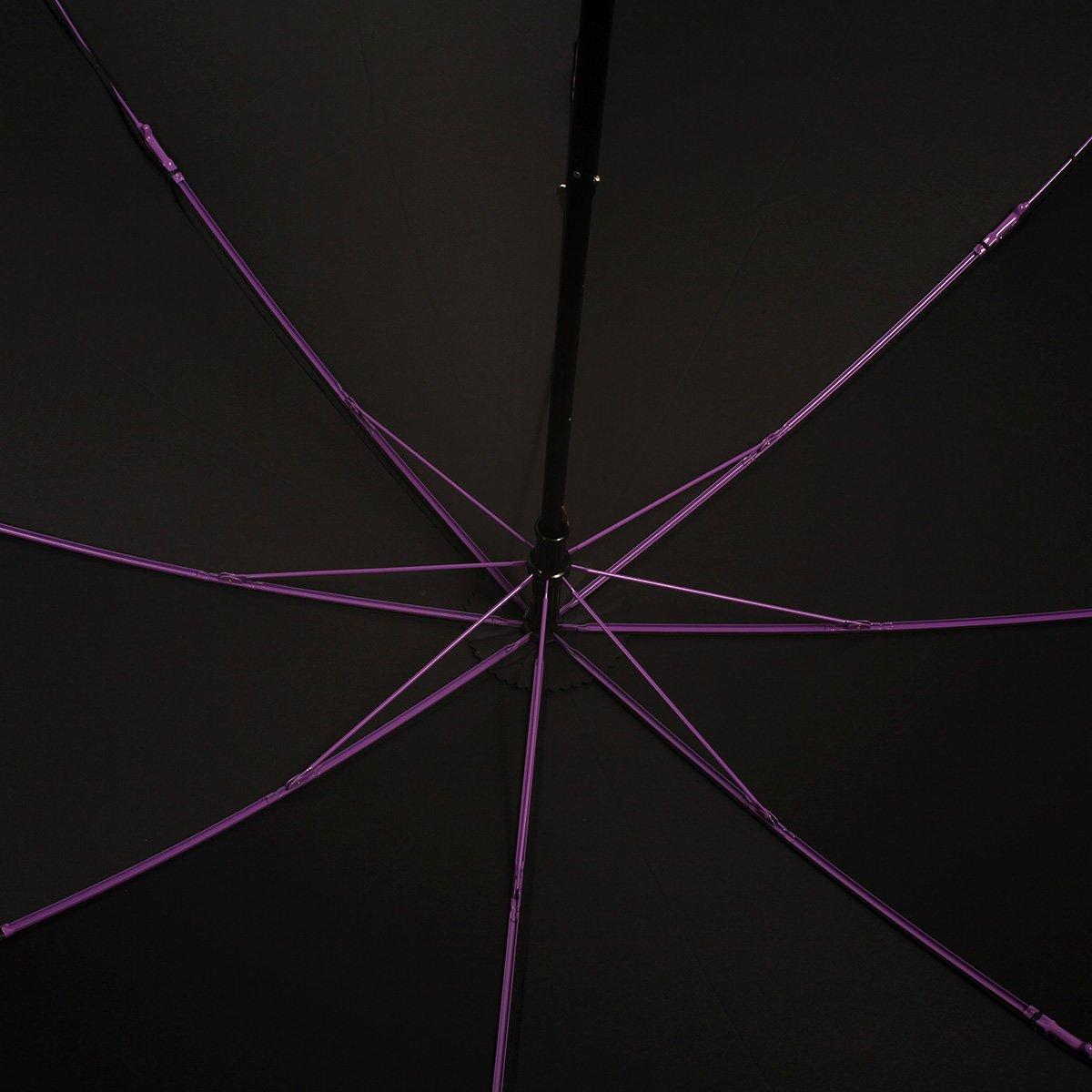 強力撥水 レインドロップ レクタス カラー骨 2段折 折りたたみ傘 詳細画像5