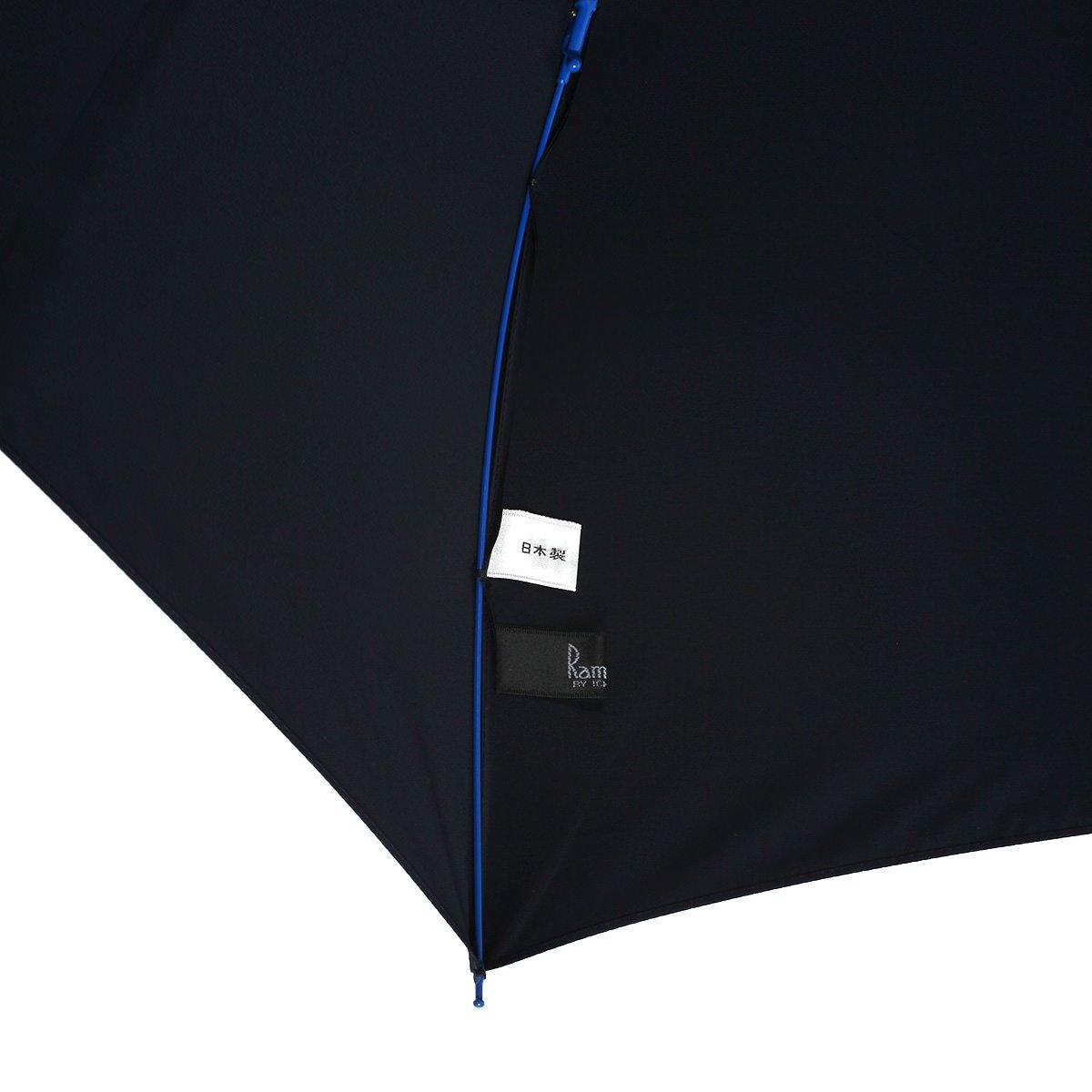 強力撥水 レインドロップ レクタス カラー骨 2段折 折りたたみ傘 詳細画像8