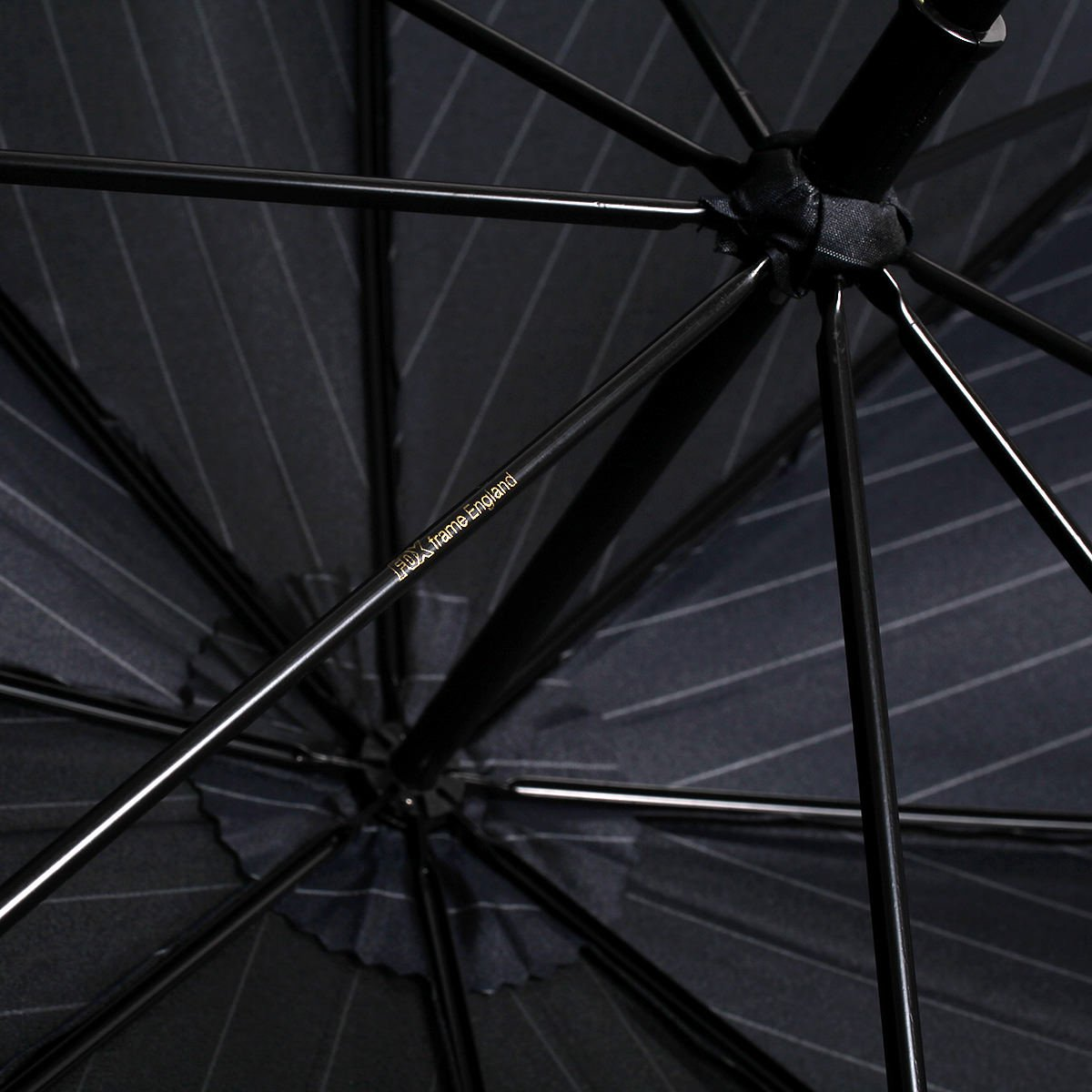 【WEB限定】FOX Frames ピンストライプ 長傘(ネイビー) 詳細画像11
