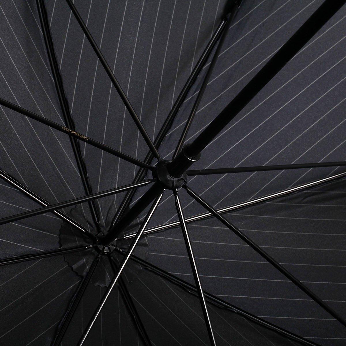 【WEB限定】FOX Frames ピンストライプ 長傘(ネイビー) 詳細画像9