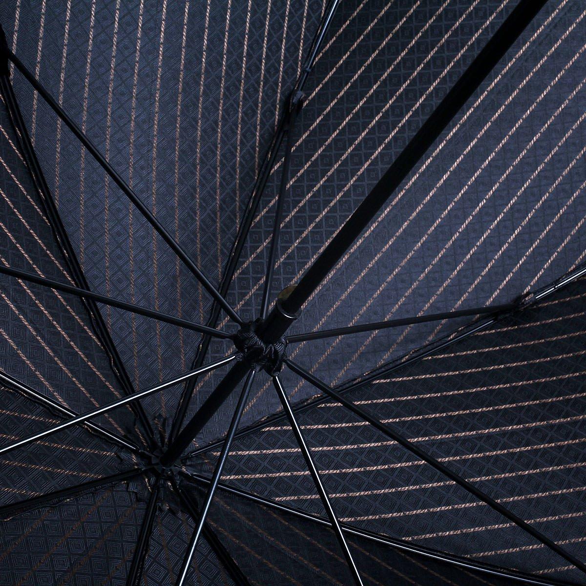 【WEB限定】FOX Frames 小紋柄 長傘(ブラック) 詳細画像10