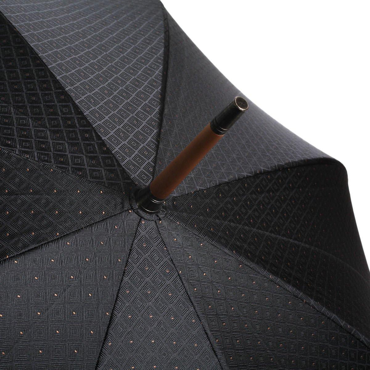 【WEB限定】FOX Frames 小紋柄 長傘(ブラック) 詳細画像9