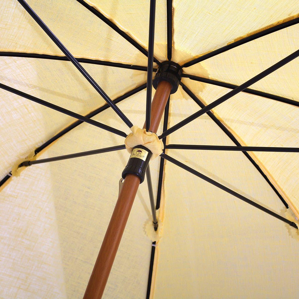 【晴雨兼用傘】レディース フレンチリネン無地 長傘 詳細画像6