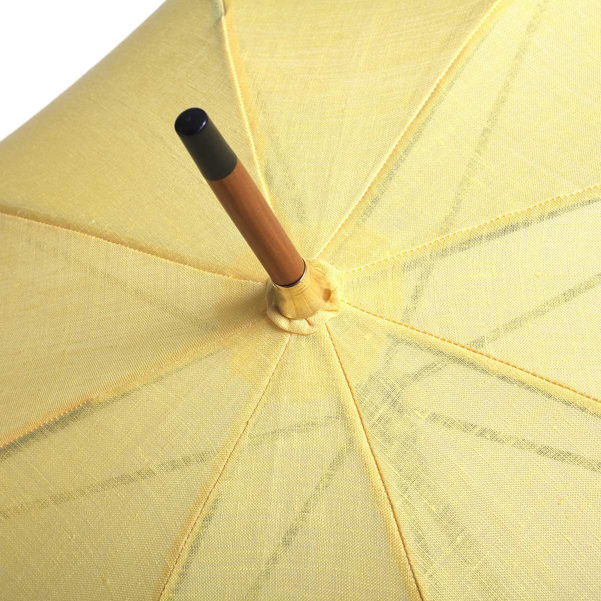 【晴雨兼用傘】レディース フレンチリネン無地 長傘 詳細画像7