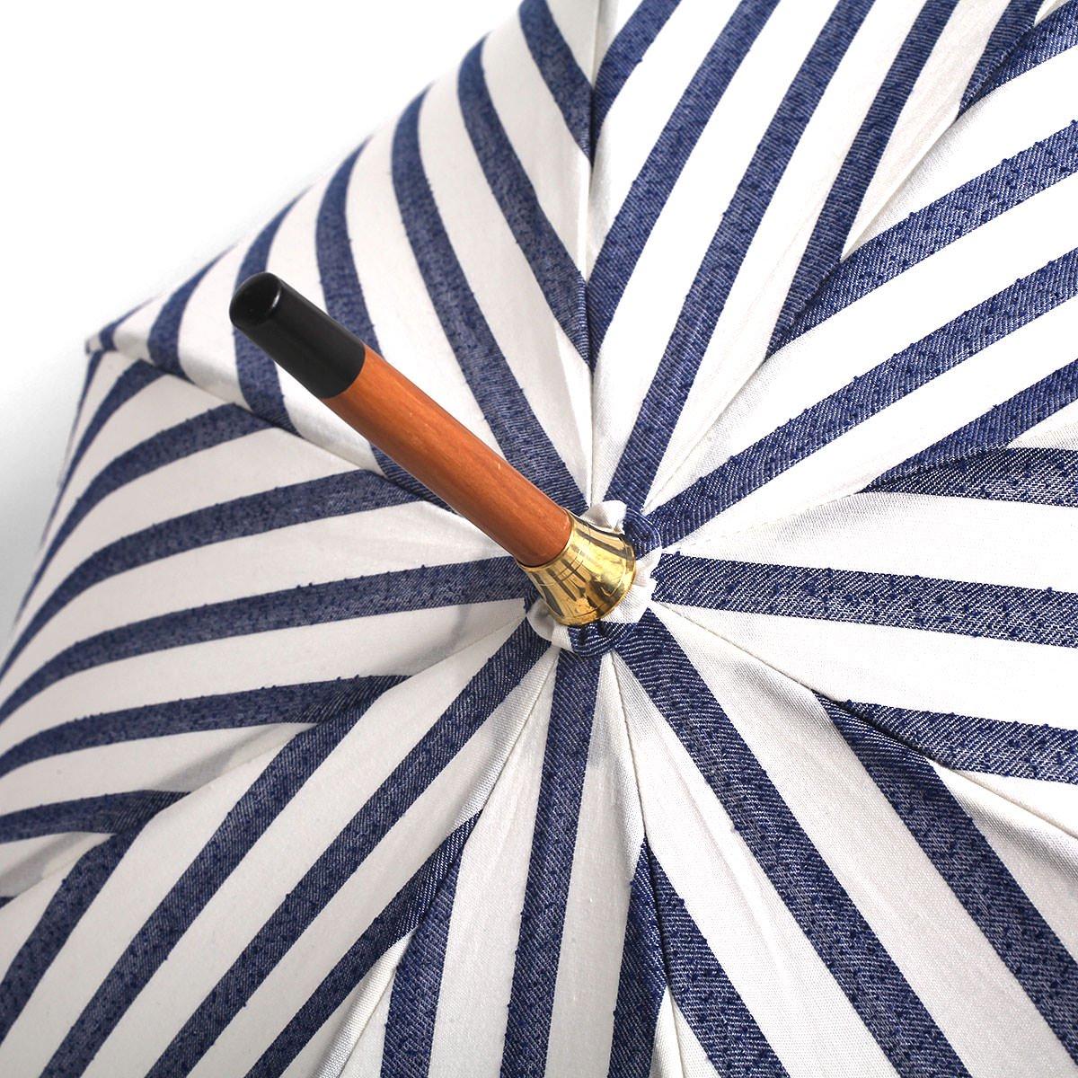 【晴雨兼用傘】レディース ネップストライプ 長傘 詳細画像7