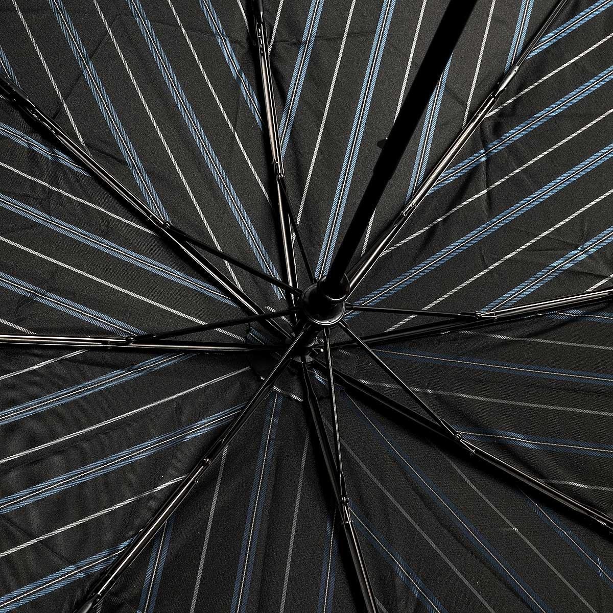 ダブルフェイス オルタネートストライプ 耐風骨 折りたたみ傘 詳細画像7