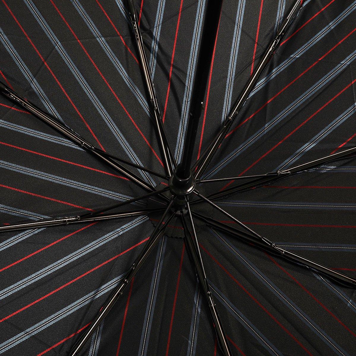 ダブルフェイス オルタネートストライプ 耐風骨 折りたたみ傘 詳細画像8