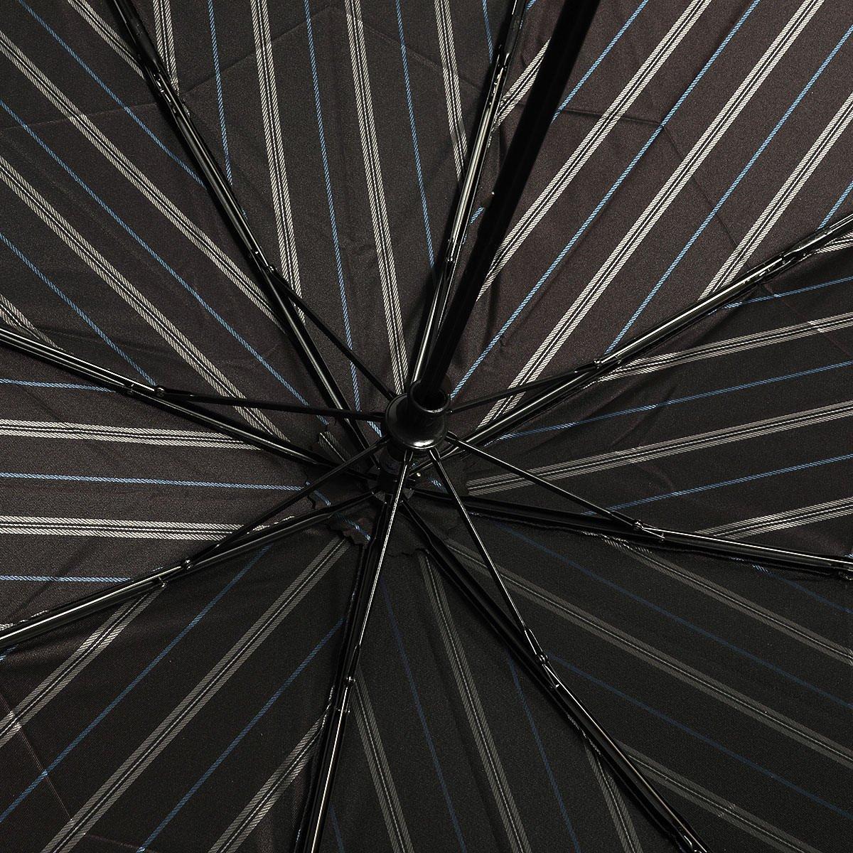 ダブルフェイス オルタネートストライプ 耐風骨 折りたたみ傘 詳細画像9