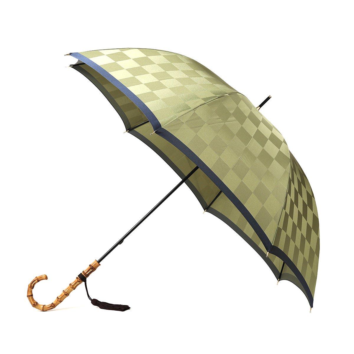 レディース 市松柄 細巻 長傘 詳細画像5