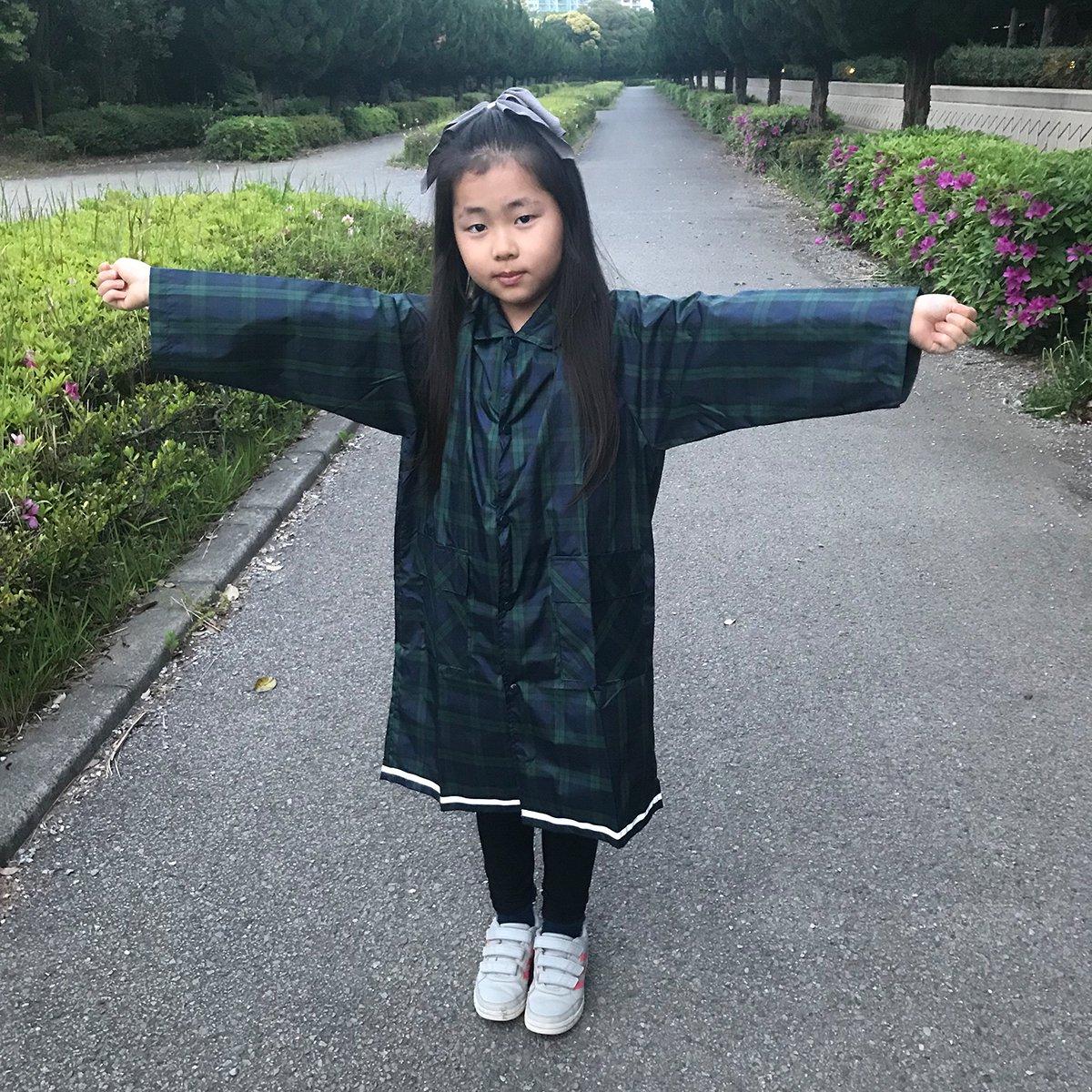 キッズ レインコート(ブラックウォッチ) 詳細画像6