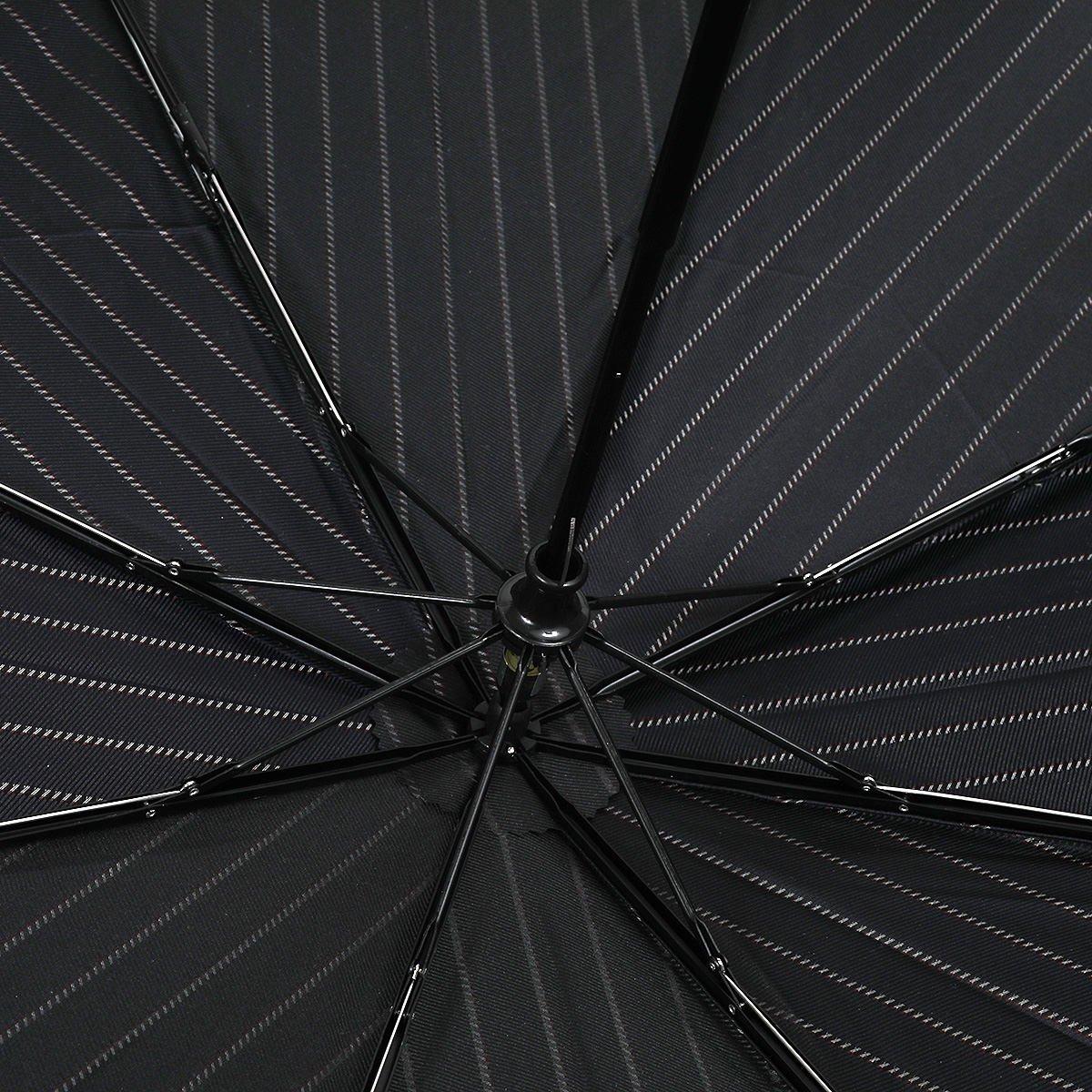レイン ストライプ 耐風骨 折りたたみ傘 詳細画像6