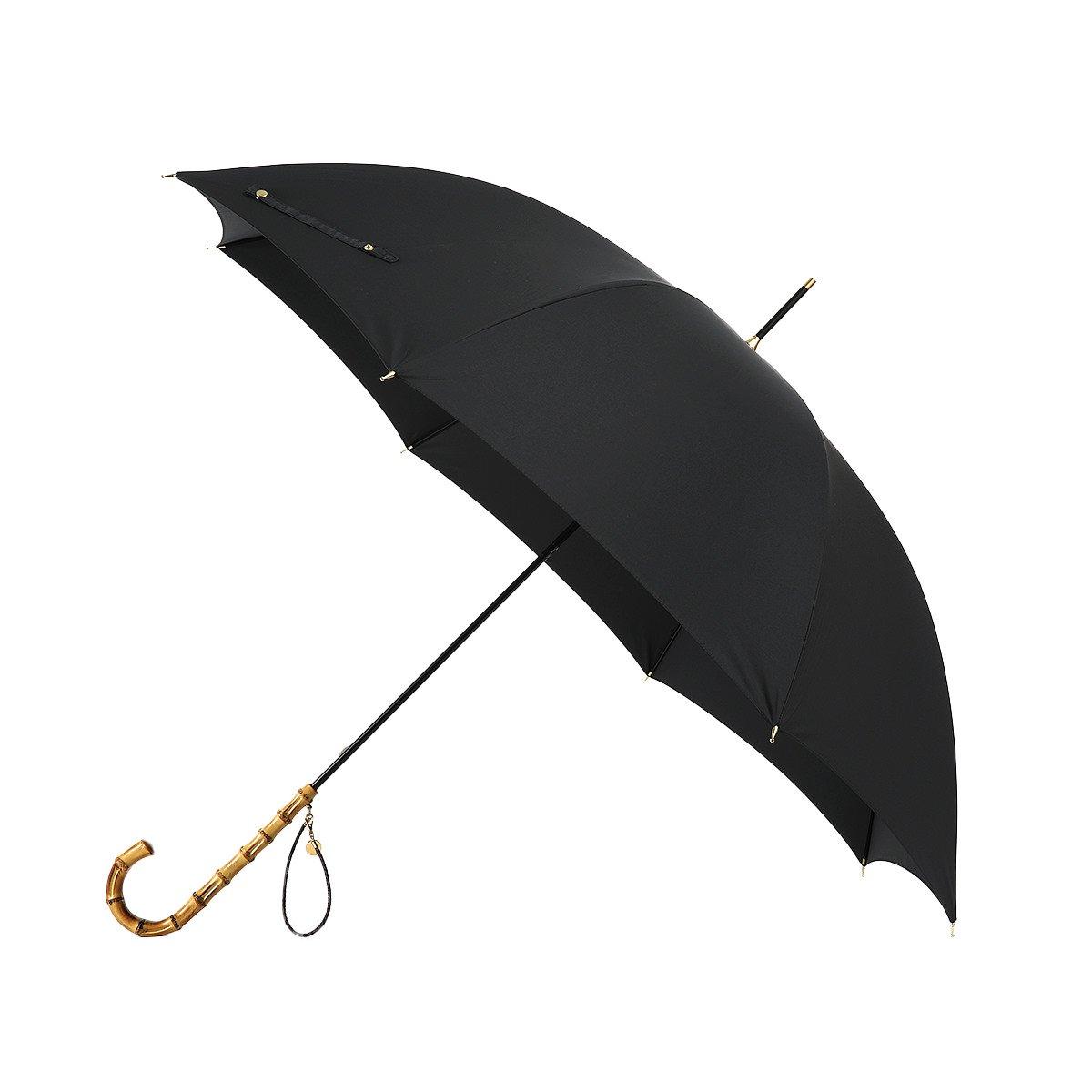 強力撥水 レインドロップ レディース レクタス バンブー 長傘(58cm) 詳細画像6
