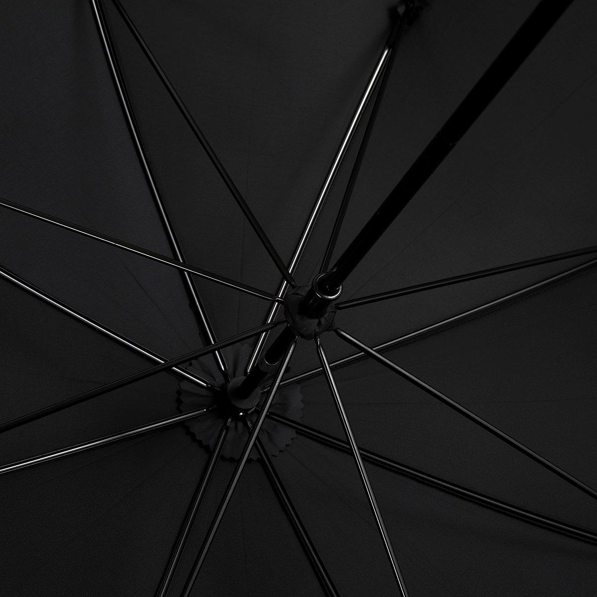 強力撥水 レインドロップ レディース レクタス バンブー 長傘(58cm) 詳細画像8