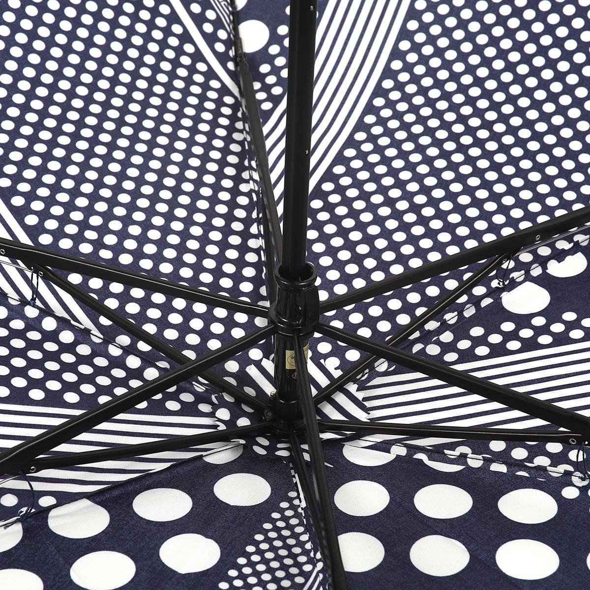 東京ノーブル ドットストライプ 折りたたみ傘 詳細画像13
