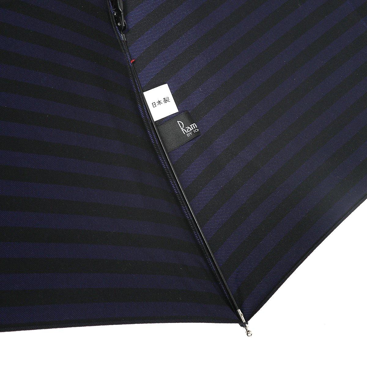 【限定】ラガー ボーダー 耐風骨 折りたたみ傘 詳細画像7