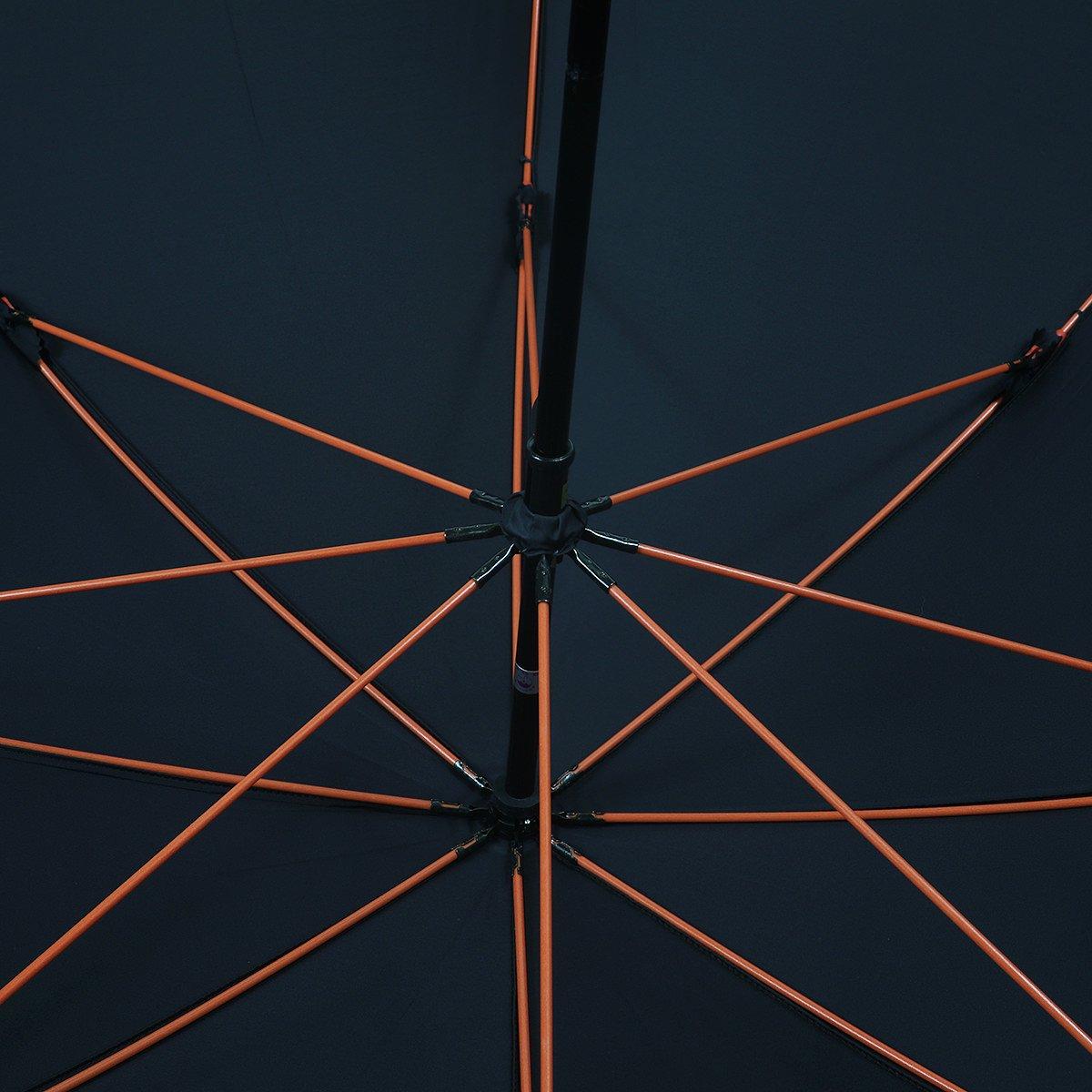 【公式限定】強力撥水 レインドロップ レクタス オレンジ骨 長傘 詳細画像5