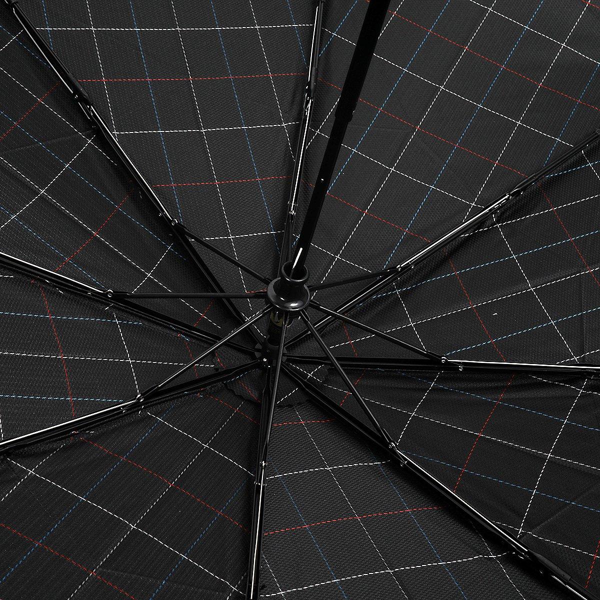 ステッチ ブロックチェック 耐風骨 折りたたみ傘 詳細画像6