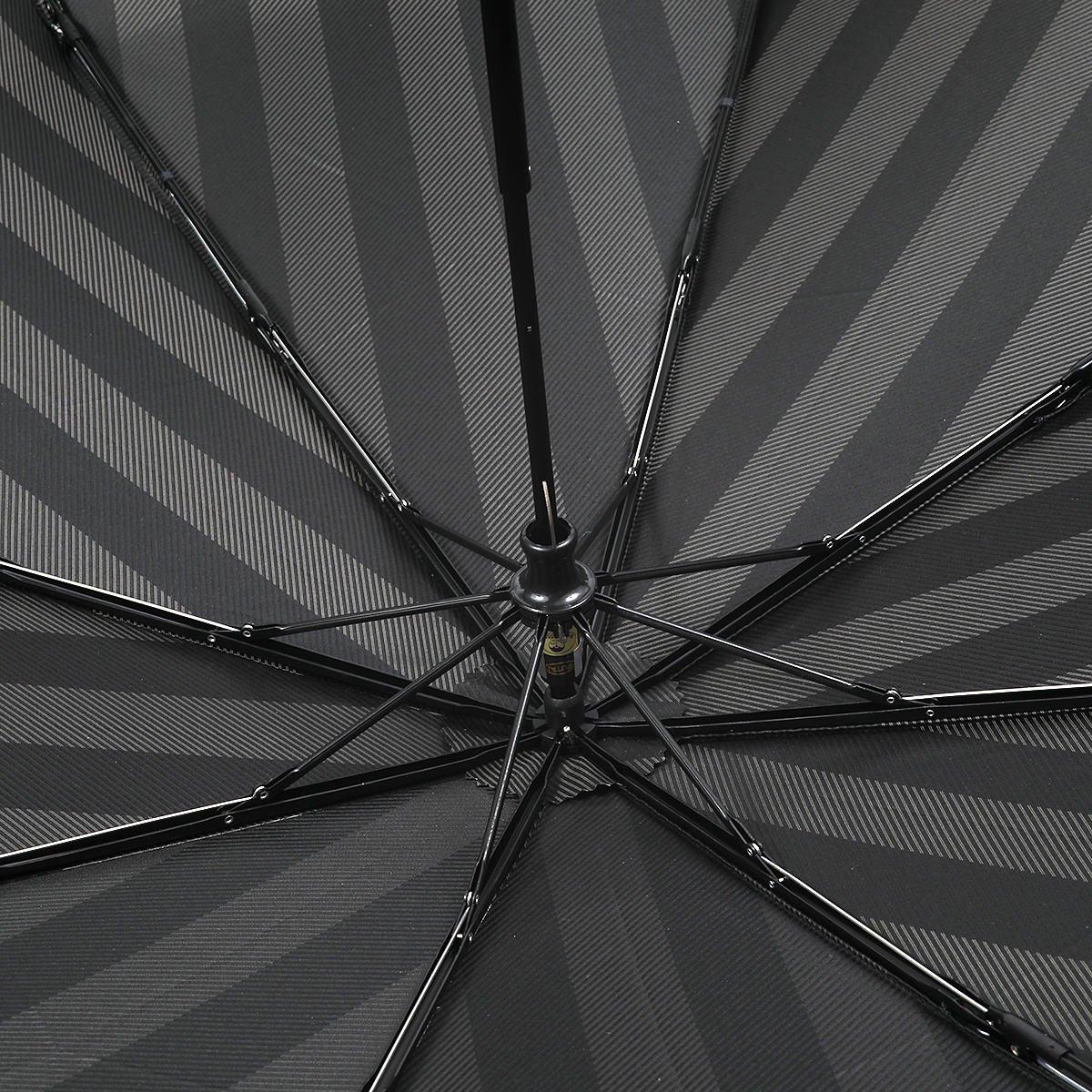 【公式限定】ワイドストライプ 耐風骨 折りたたみ傘 詳細画像6