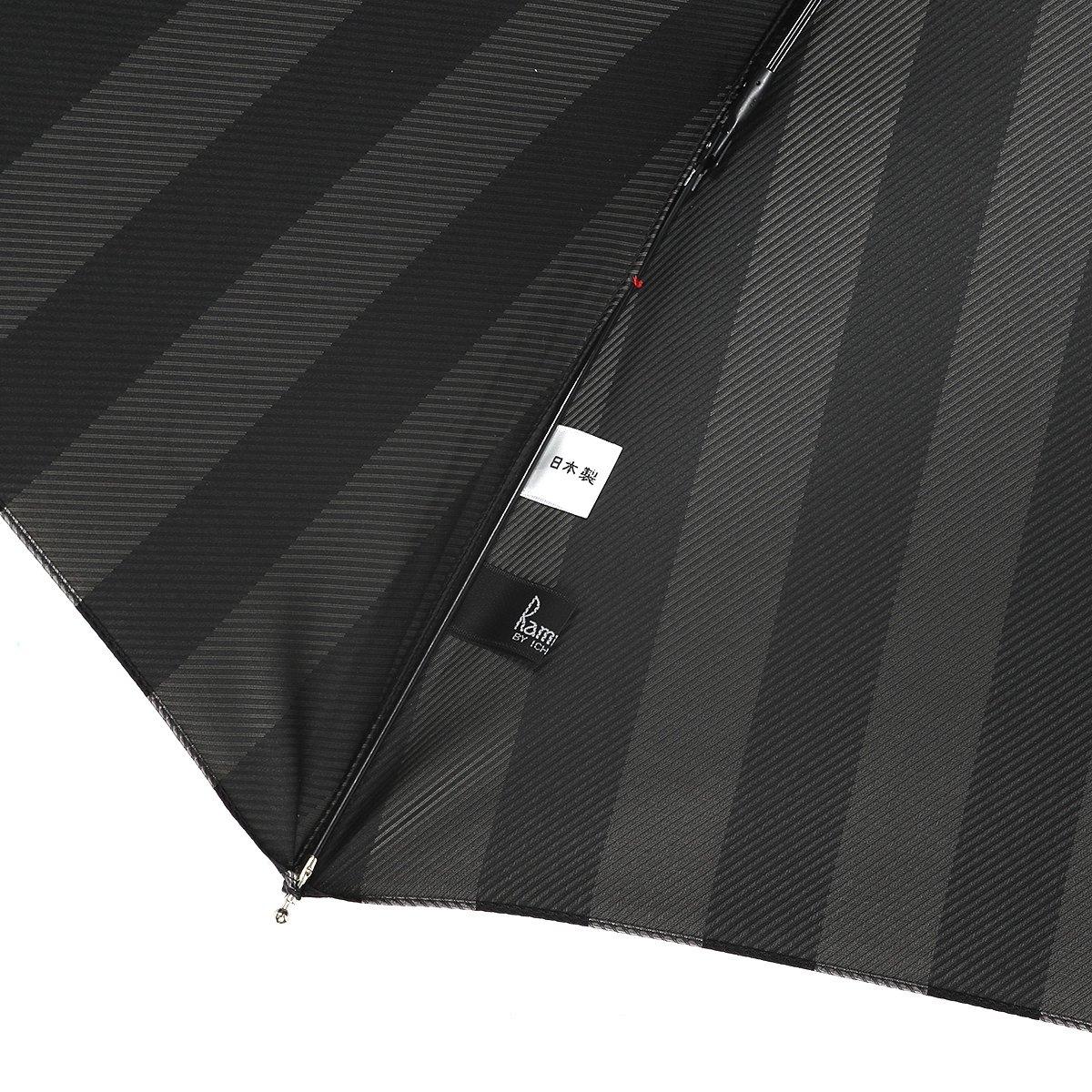 【公式限定】ワイドストライプ 耐風骨 折りたたみ傘 詳細画像7