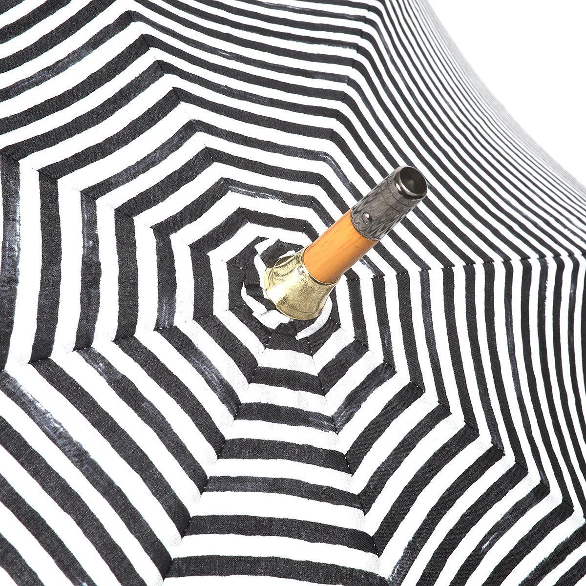 【晴雨兼用傘】レディース 手書き風 ボーダー柄 長傘 詳細画像5