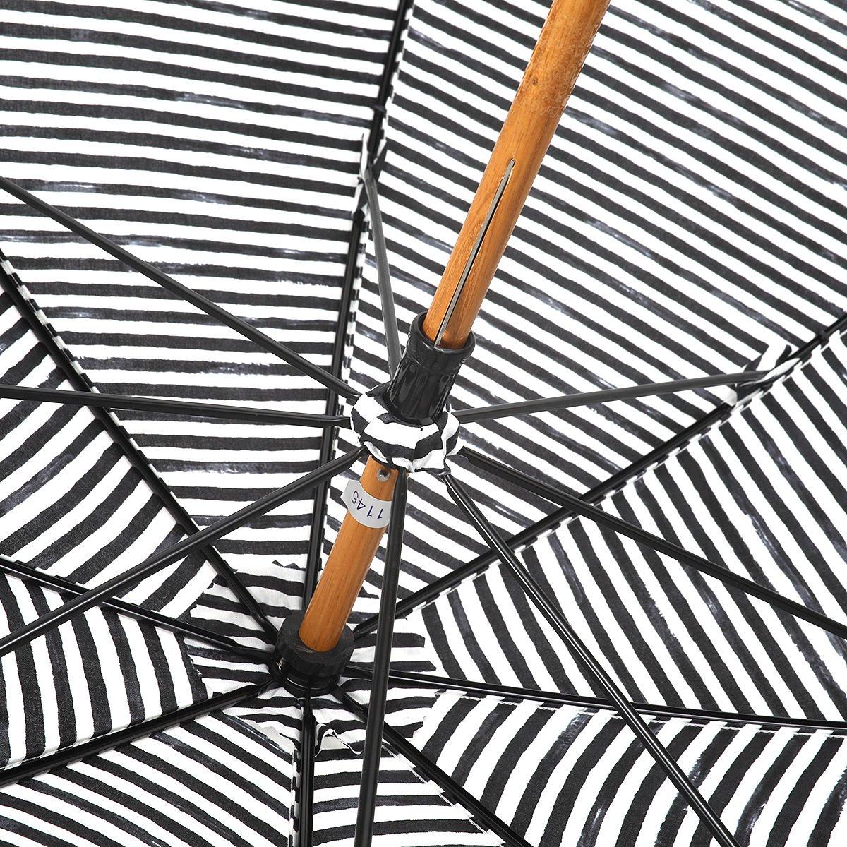 【晴雨兼用傘】レディース 手書き風 ボーダー柄 長傘 詳細画像6