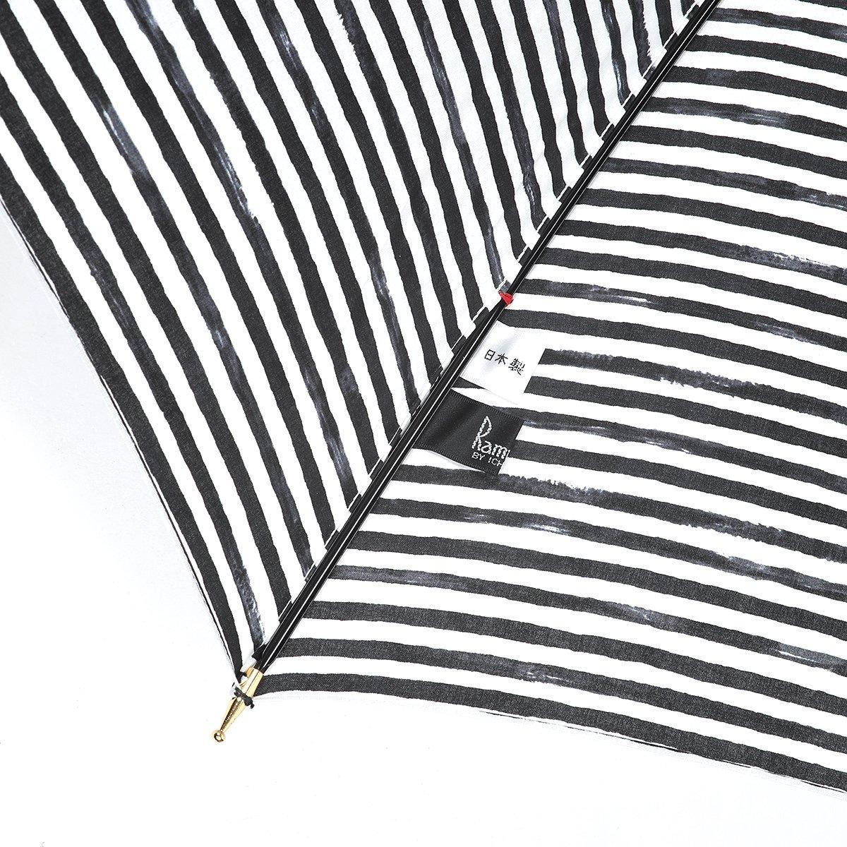 【晴雨兼用傘】レディース 手書き風 ボーダー柄 長傘 詳細画像7