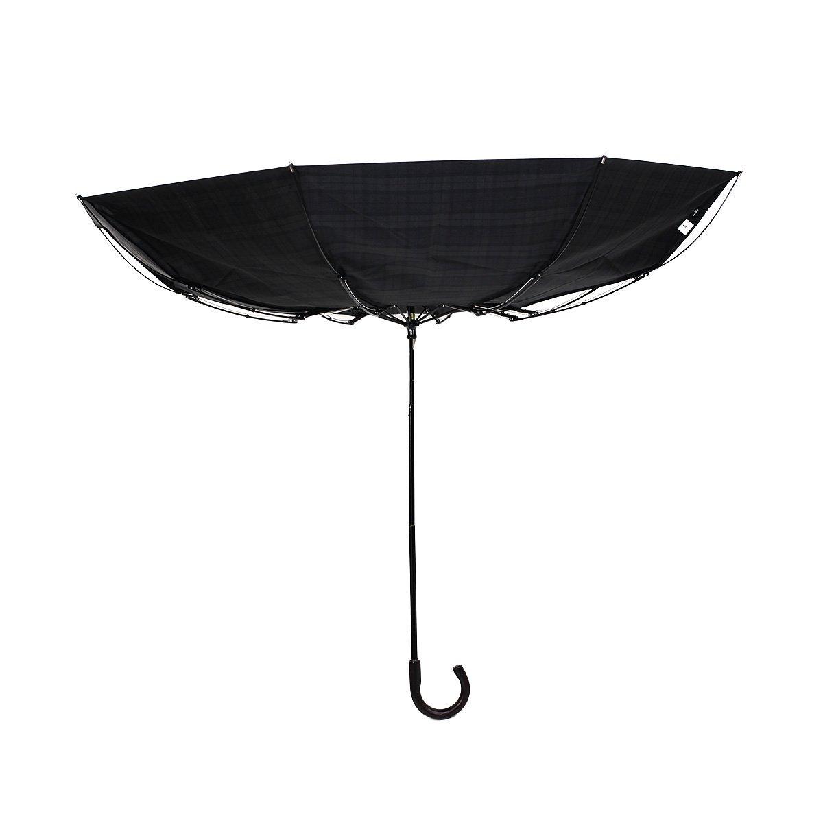【セール】グリーン ストライプ 耐風骨 折りたたみ傘 詳細画像8