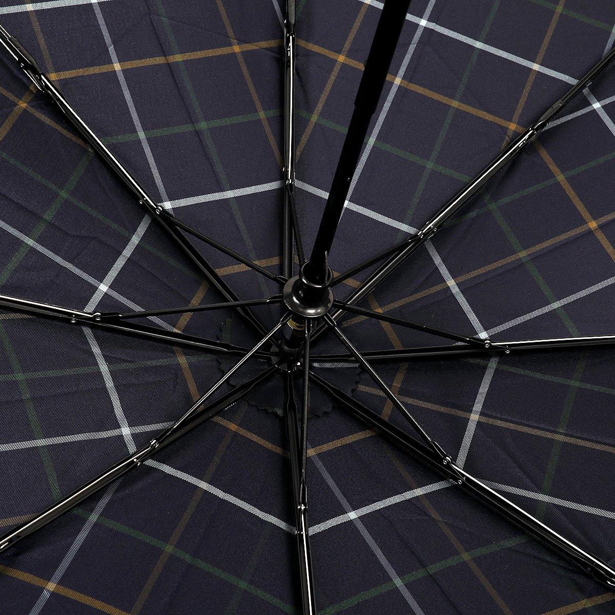 【セール】3カラー チェック 耐風骨 折りたたみ傘 詳細画像7