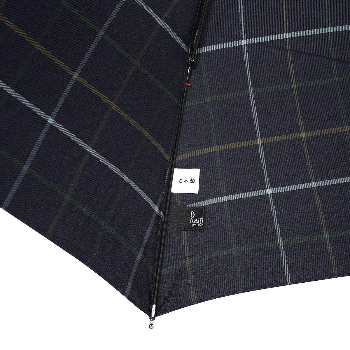 【セール】3カラー チェック 耐風骨 折りたたみ傘 詳細画像8