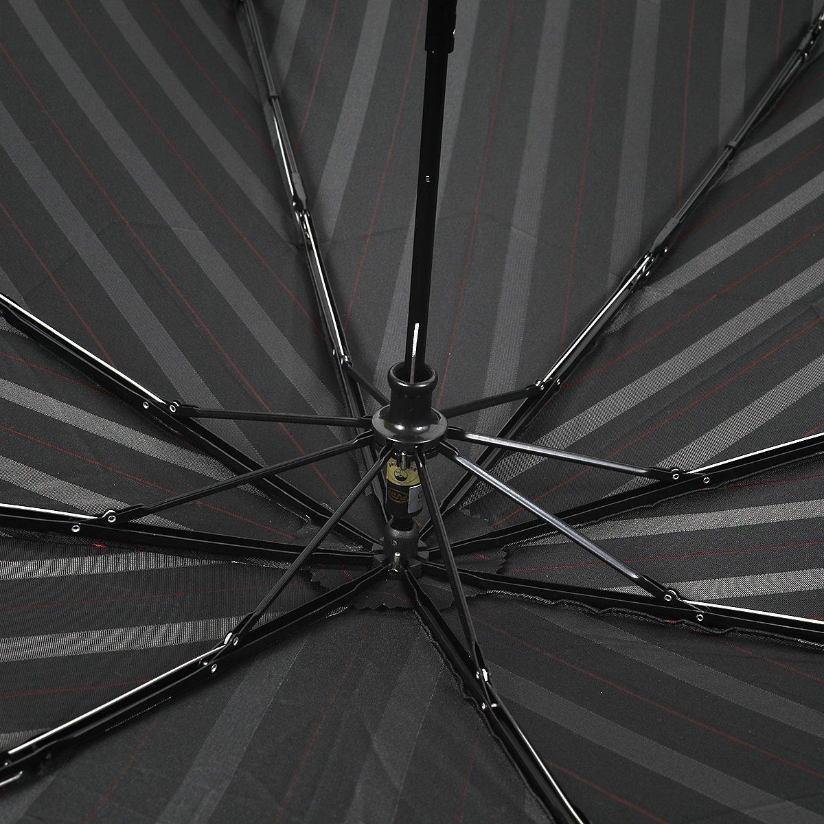 【セール】オルタネート ストライプ 耐風骨 折りたたみ傘 詳細画像7
