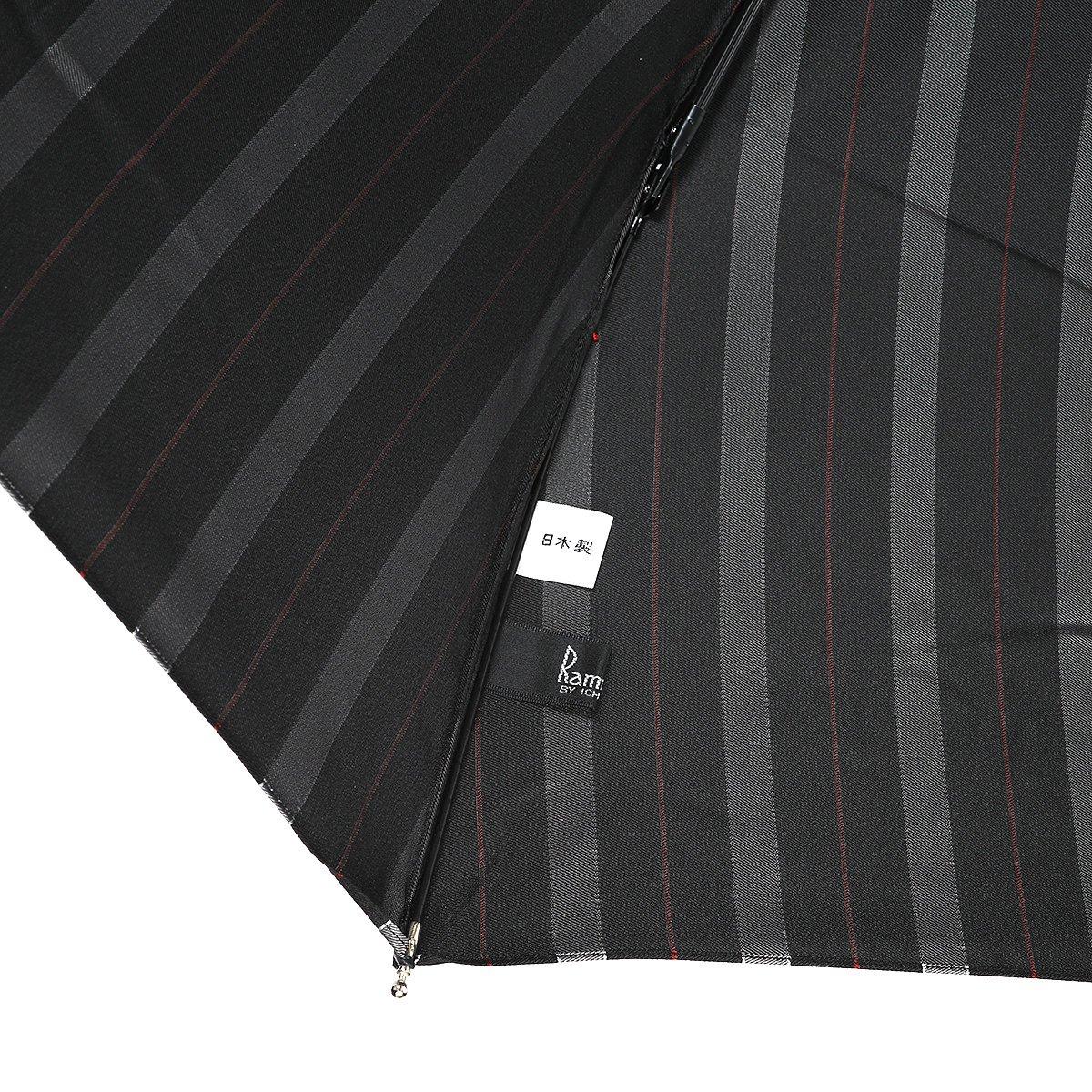 【セール】オルタネート ストライプ 耐風骨 折りたたみ傘 詳細画像8