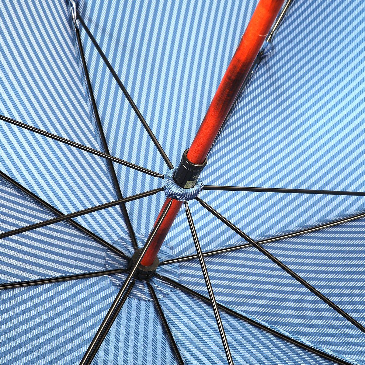 ロンドン ストライプ 一本棒 メープルソリッド 長傘 詳細画像7