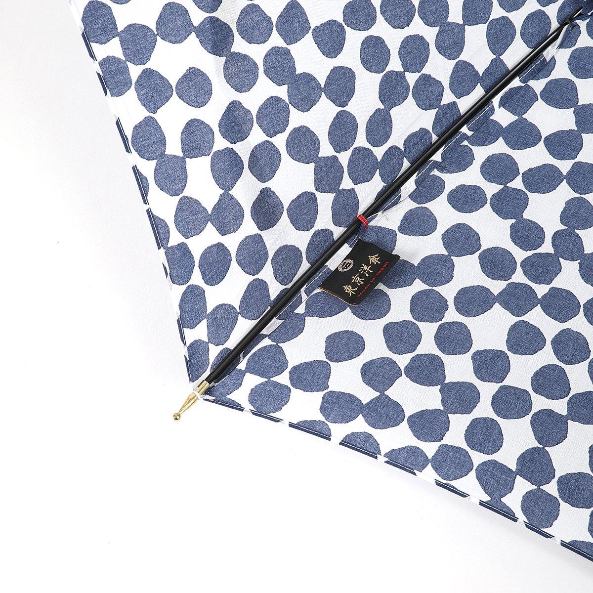 【晴雨兼用傘】東京洋傘 レディース 手書き風 ドット柄 長傘 詳細画像6