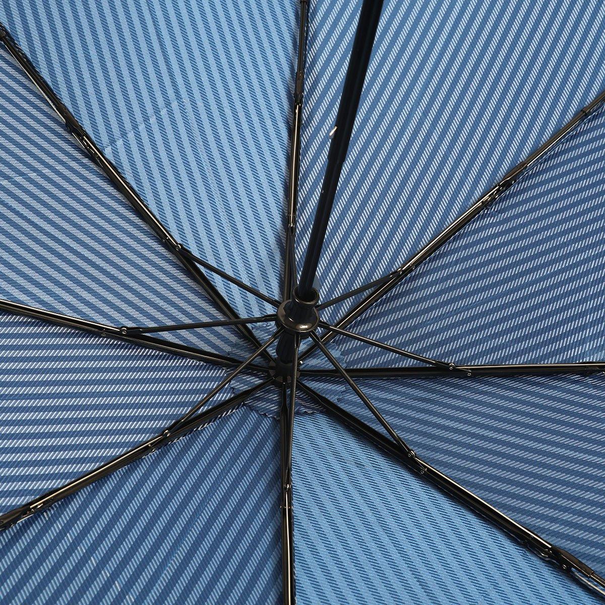 ロンドンストライプ 耐風骨 折りたたみ傘 詳細画像6