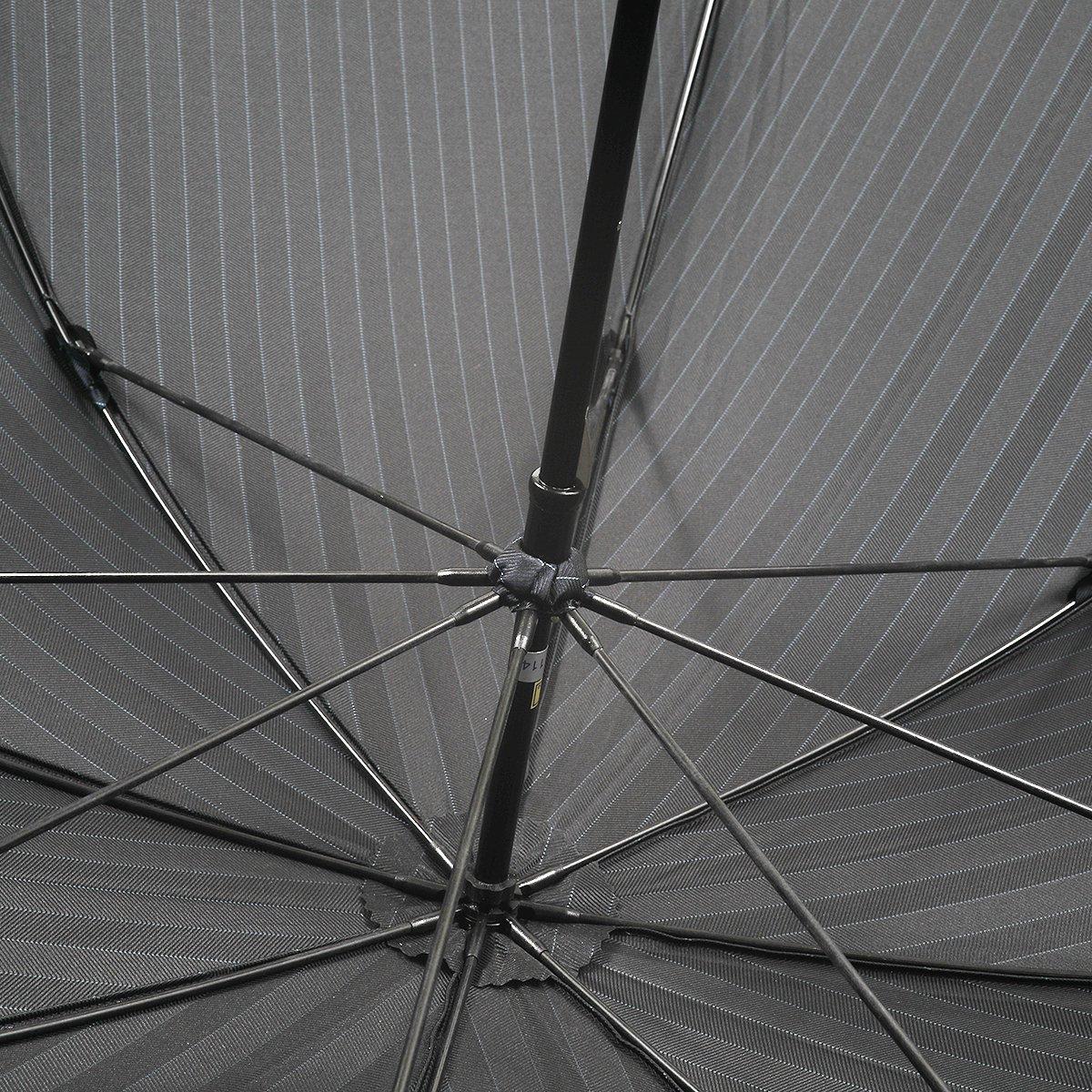 【セール】ネイビー ヘリンボーン ツイル カラー ストライプ 長傘 詳細画像6