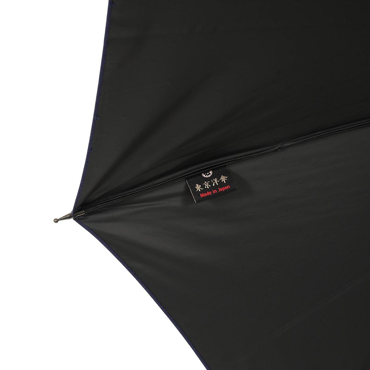【一級遮光】スライドシャフト ネイビー×ネイビー ドビー 日傘 詳細画像6
