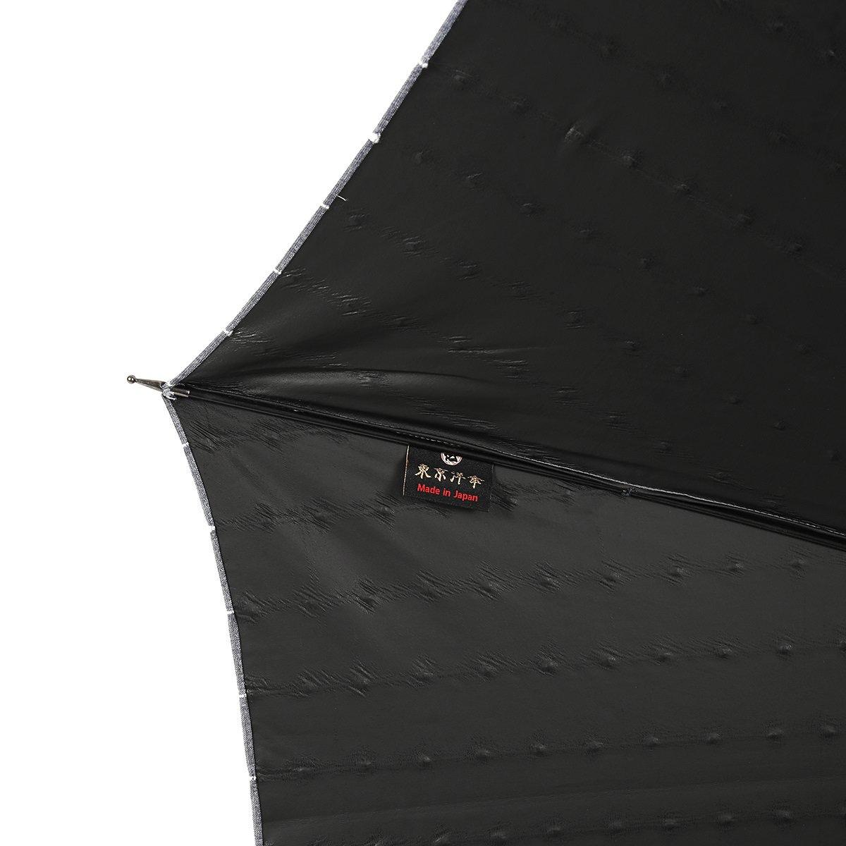 【一級遮光】スライドシャフト ボンボン ストライプ 日傘 詳細画像5