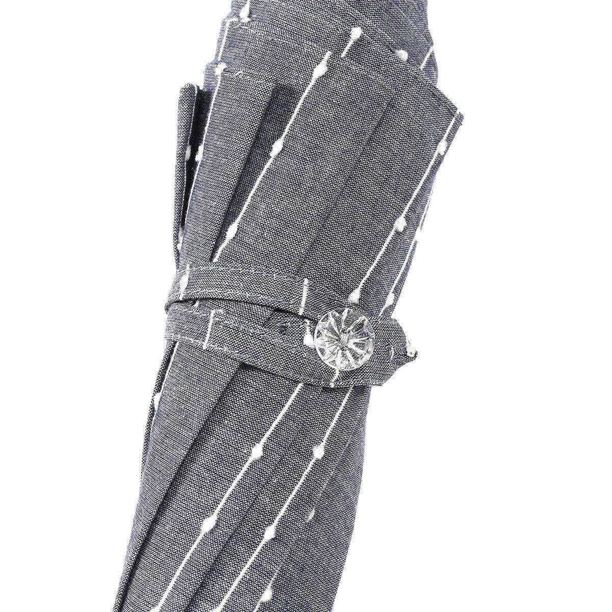 【一級遮光】スライドシャフト ボンボン ストライプ 日傘 詳細画像6