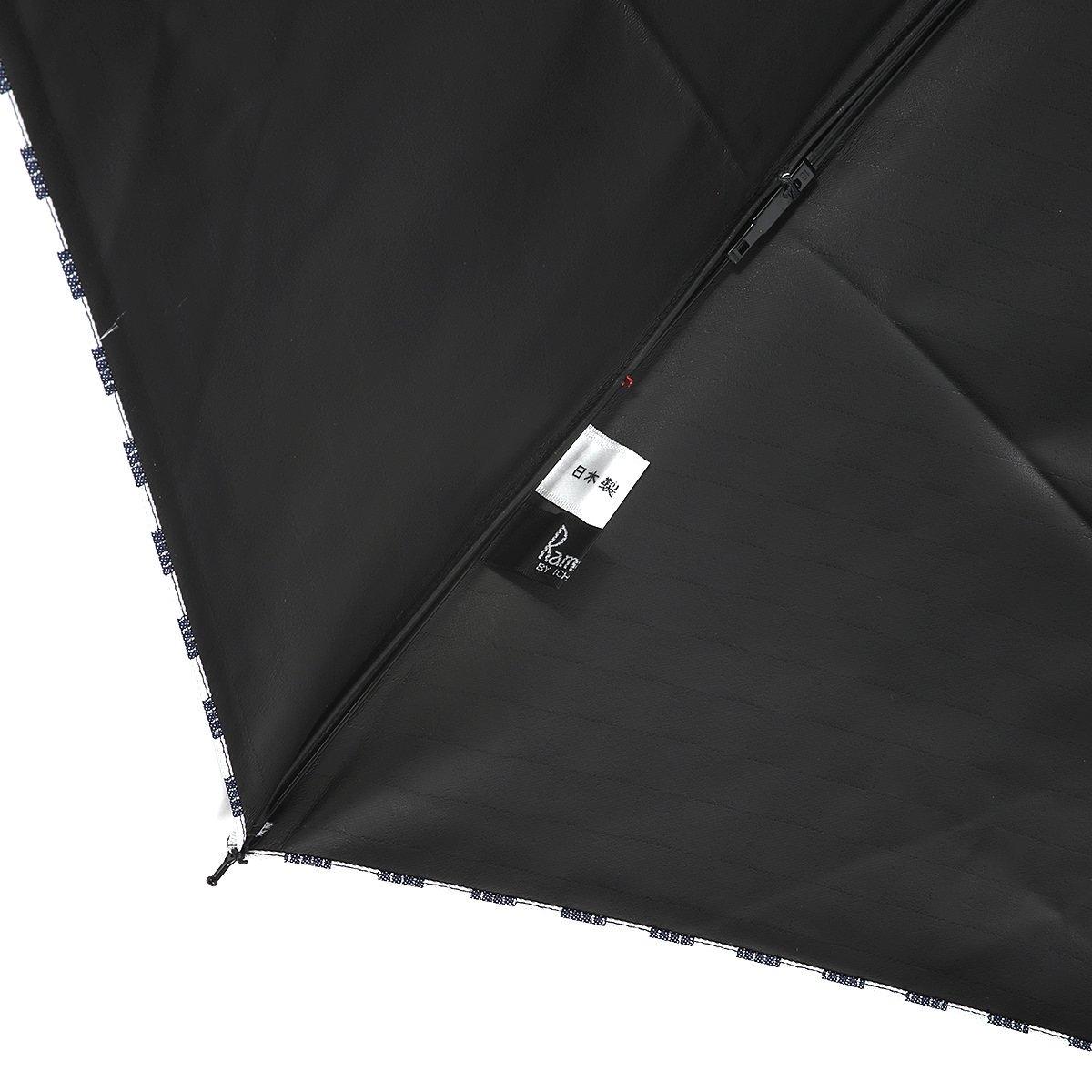 【一級遮光】チェッカー バンブー オールシーズン 折りたたみ 日傘 詳細画像8