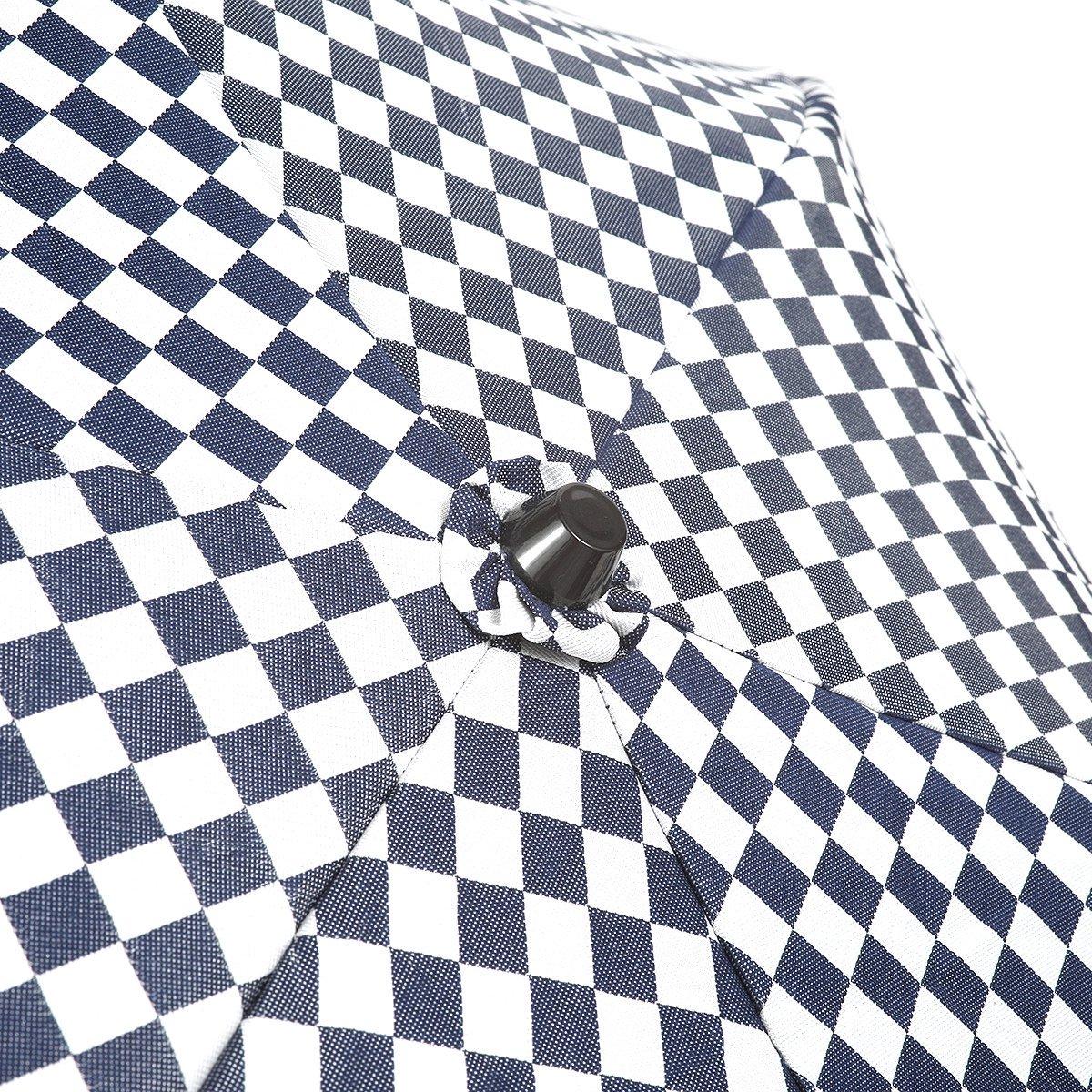 【一級遮光】チェッカー バンブー オールシーズン 折りたたみ 日傘 詳細画像9