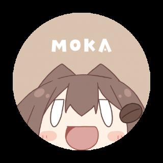 モカ缶バッジ