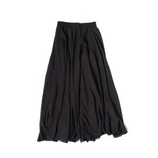 Flared cotton skirt BLACK