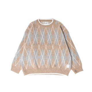 <img class='new_mark_img1' src='https://img.shop-pro.jp/img/new/icons1.gif' style='border:none;display:inline;margin:0px;padding:0px;width:auto;' />Argyle sweater BEIGE