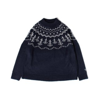 <img class='new_mark_img1' src='https://img.shop-pro.jp/img/new/icons1.gif' style='border:none;display:inline;margin:0px;padding:0px;width:auto;' />Nordic flower knit NAVY
