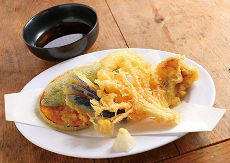 昇仙峡流しそうめん 円右衛門季節の野菜天ぷら+流しそうめん(3名様分)