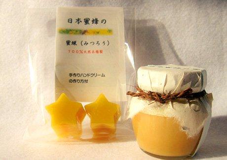 日本蜜蜂の蜜と天然蜜蝋