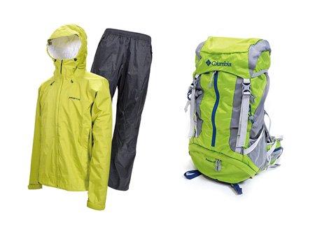 登山用レインウェア上下セット&登山用ザック45L※レンタル1泊2日