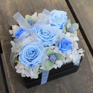 ふんわりリボンのBOX・ブルー